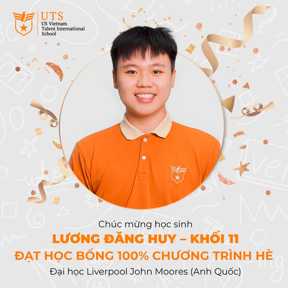 Congratulations Luong Dang Huy (Grade 11) on receiving 100% scholarship for summer program of Liverpool University John Moores (UK)
